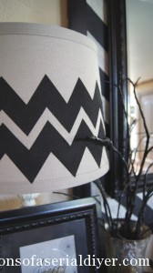 Chevron Shade and a Halloween Vignette