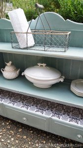 Cottage shelf painted in Duck Egg Blue