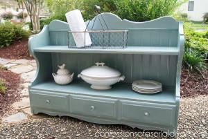 Duck Egg Blue Cottage Inspired Shelf