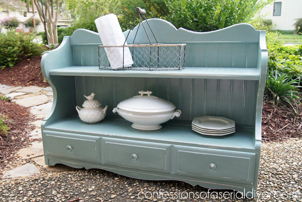 Duck Egg Blue Cottage Inspired Shelf