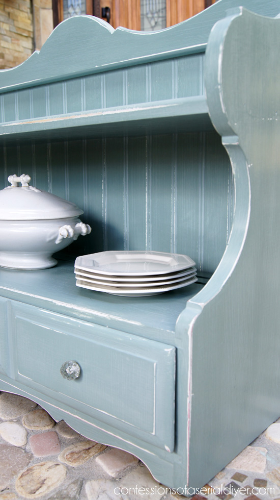 Cottage SHelf in Duck Egg BLue