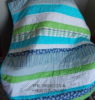 strip baby quilt