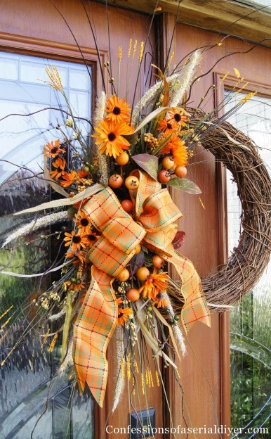 fall wreath craft ideas fall wreath confessions of a serial do it yourselfer 4429