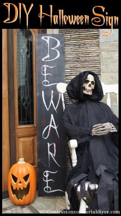 Spooky Halloween Sign