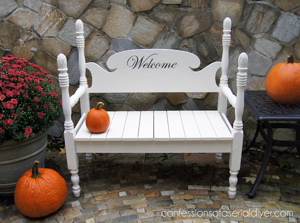 How to Build a Headboard Bench from Confessions of a Serial Do-it-Yourselfer