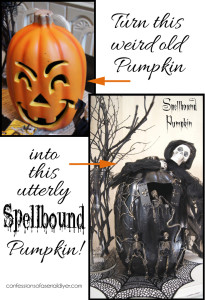 Turn an ugly pumpkin in to a spellbound pumpkin! Confessions of a Serial Do-it-Yourselfer