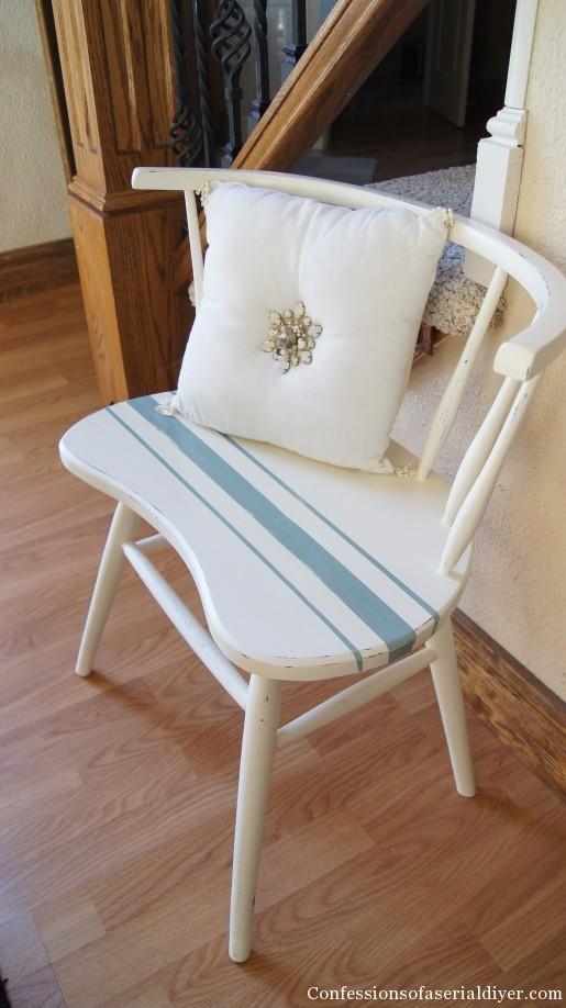 Painted grain sack chair