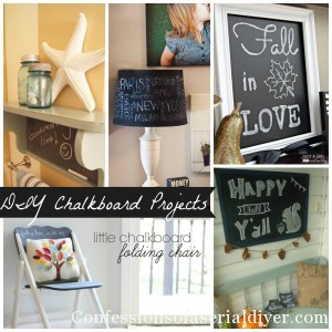 Get Your DIY on: Chalkboard Projects {& Features!}