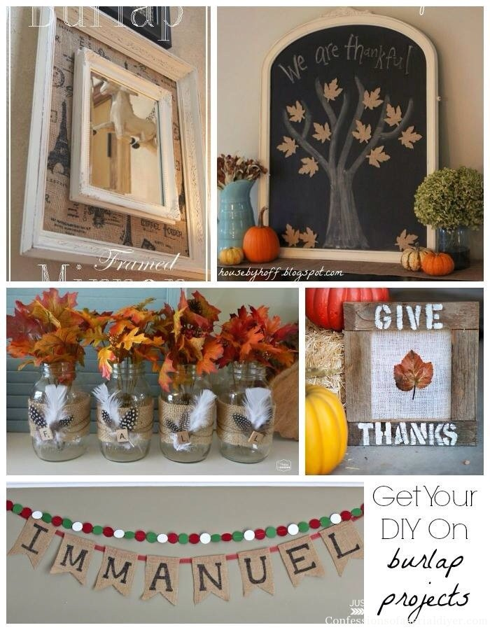 Burlap Projects Collage