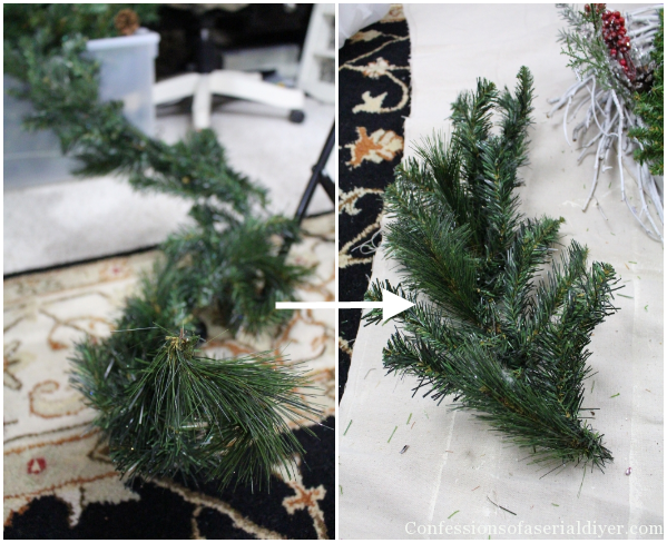 christmas twig wreath - Michaels Christmas Garland