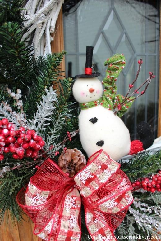 DIY Christmas Twig Wreath 11