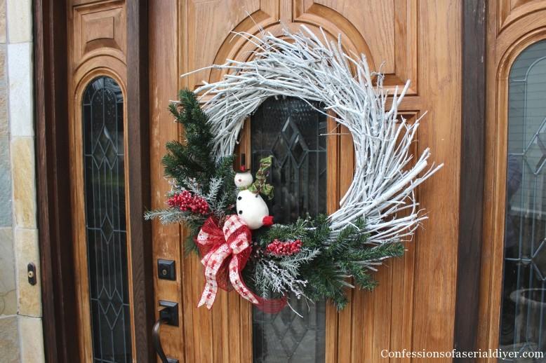 DIY Christmas Twig Wreath 13