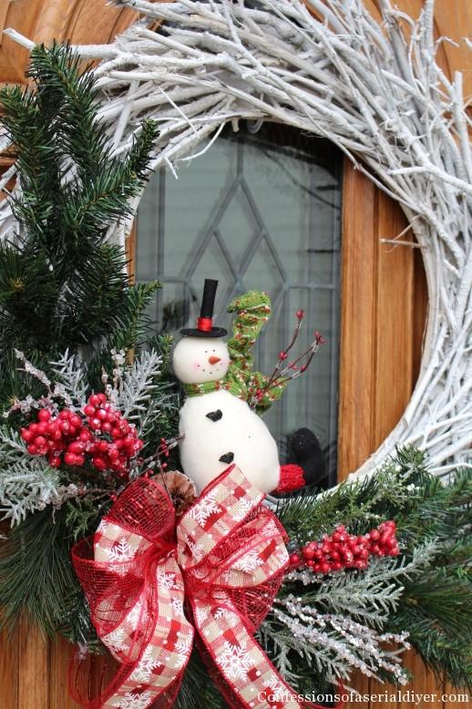 diy christmas twig wreath 15 - Michaels Christmas Garland