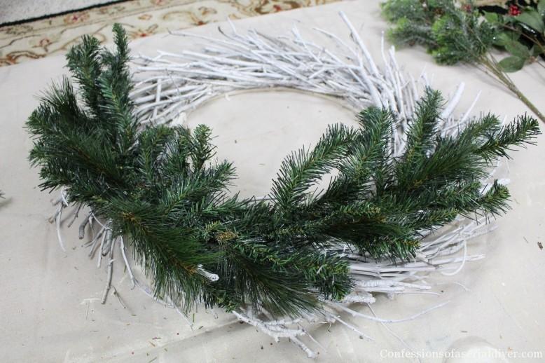 DIY Christmas Twig Wreath 6
