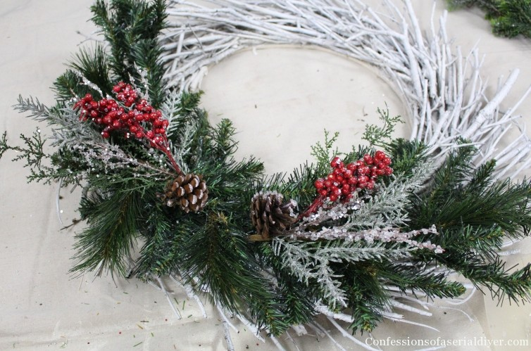 Diy Christmas Twig Wreath Confessions Of A Serial Do It Yourselfer