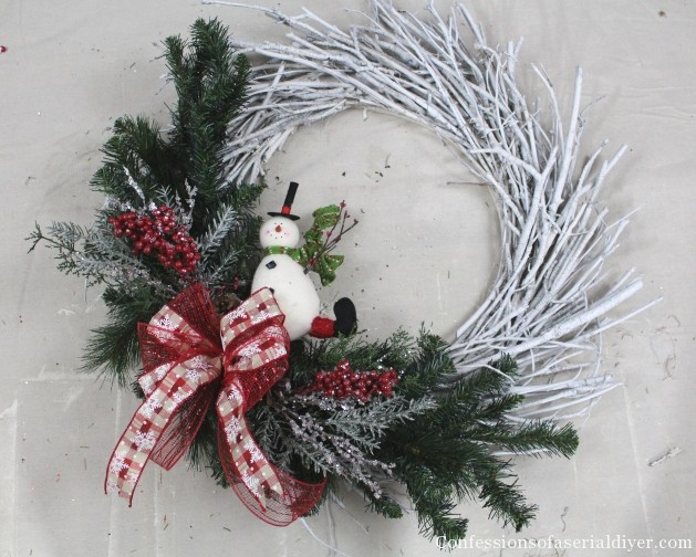 diy christmas twig wreath 8 - How To Make A Christmas Wreath