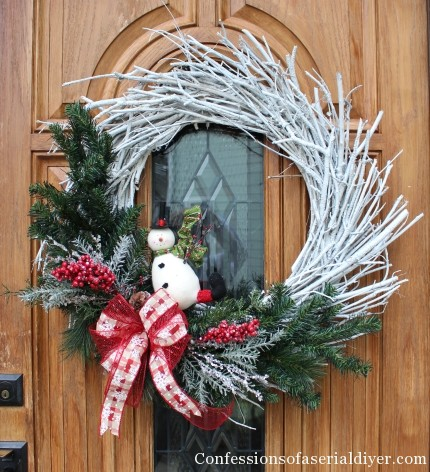 DIY Christmas Twig Wreath 9