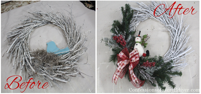 Diy Christmas Twig Wreath Confessions Of A Serial Do It