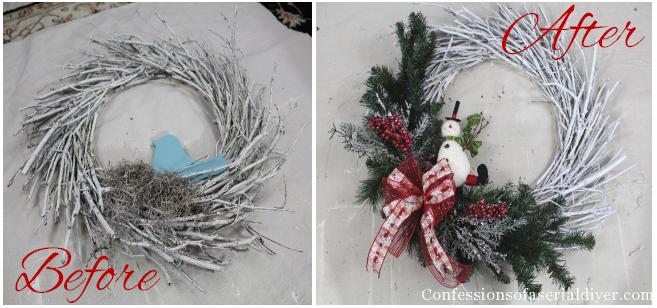 DIY Christmas Twig Wreath