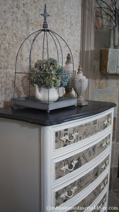Fabric Inlay Dresser