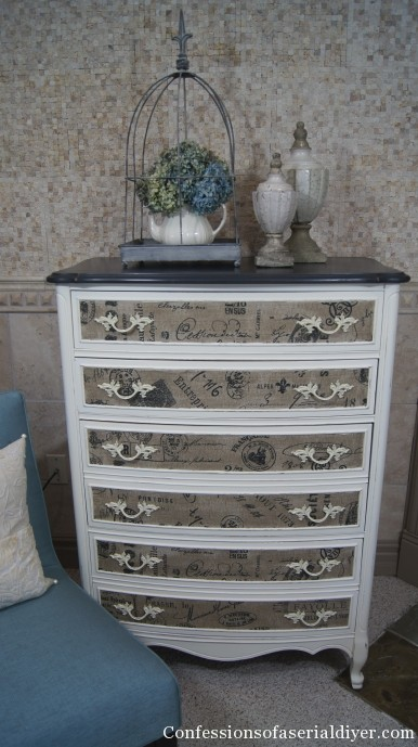 Transform a dresser with fabric