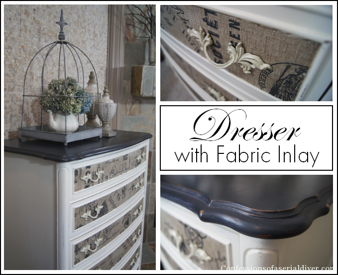 update a dresser with fabric
