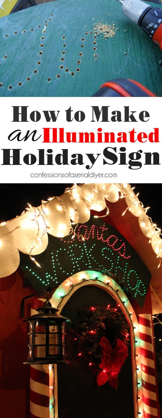 How to make an illuminated sign from confessionsofaserialdiyer.com