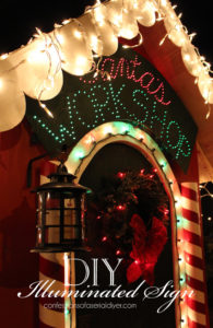 How to Make an Illuminated Holiday Sign