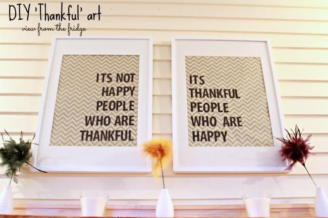 DIY Thankful Art