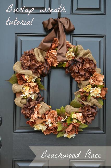 Burlap Wreath from Beachwood Place