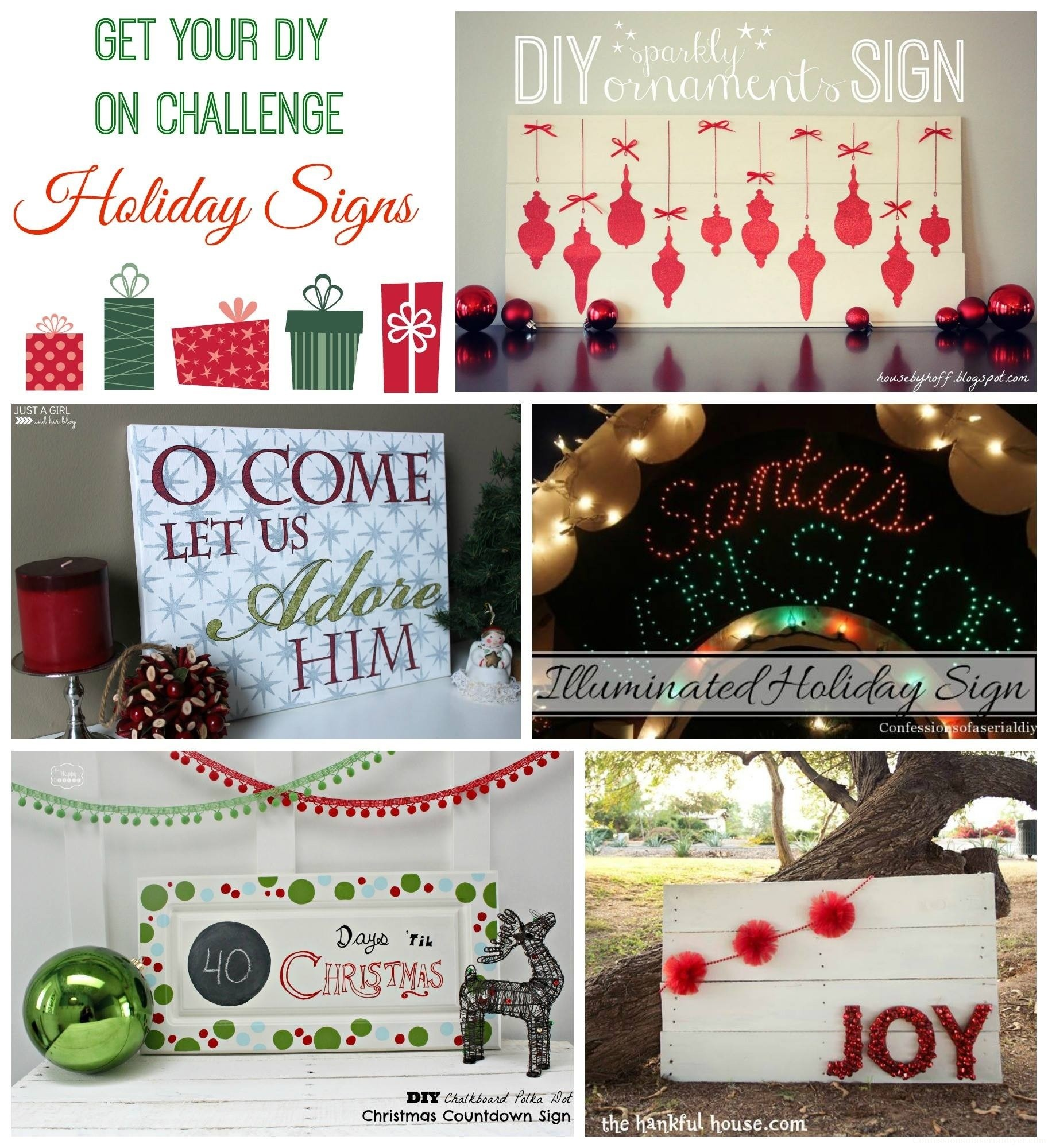 Holiday sign ideas