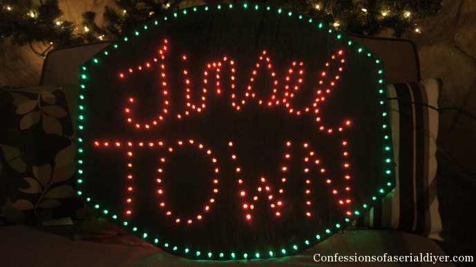 Make a lighted sign