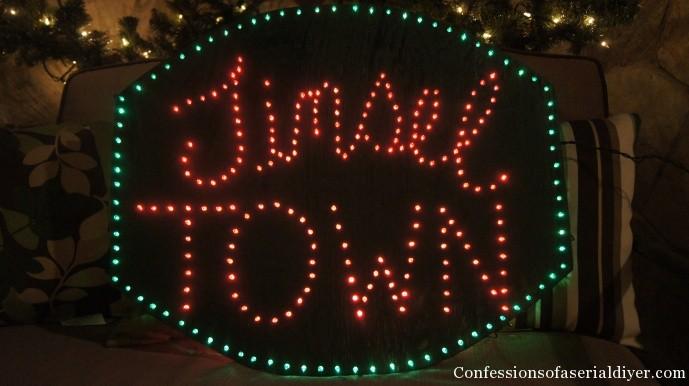 Make a lighted sign