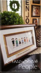 Cross-Stitch People- fun gift idea!