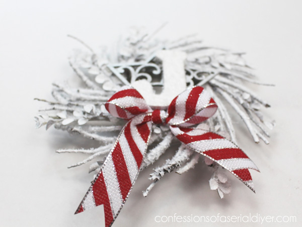 Monogrammed Mini Twig Wreath Ornament