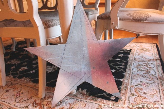 Recycled Christmas Card Star