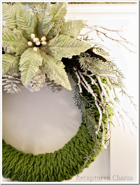 Finger KNitted Wreath by Recaptured Charm
