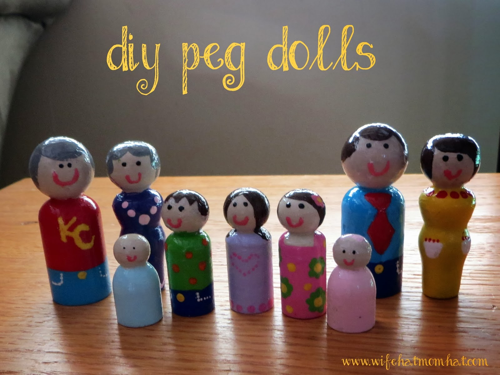 DIY Peg Dolls from Wife Hat Mom Hat