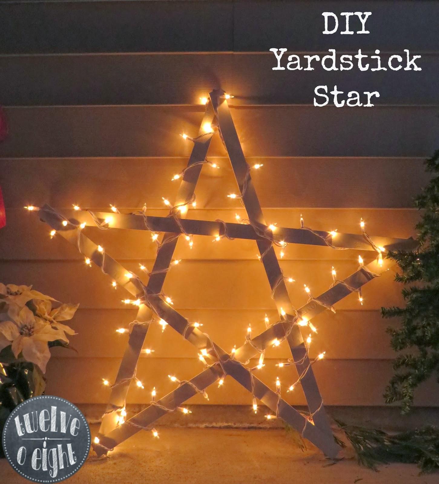 DIY Yardstick Star from Twelve O Eight