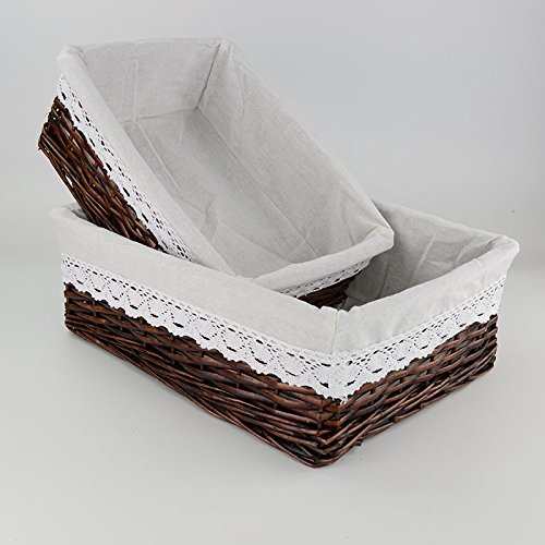 Fabric lined baskets