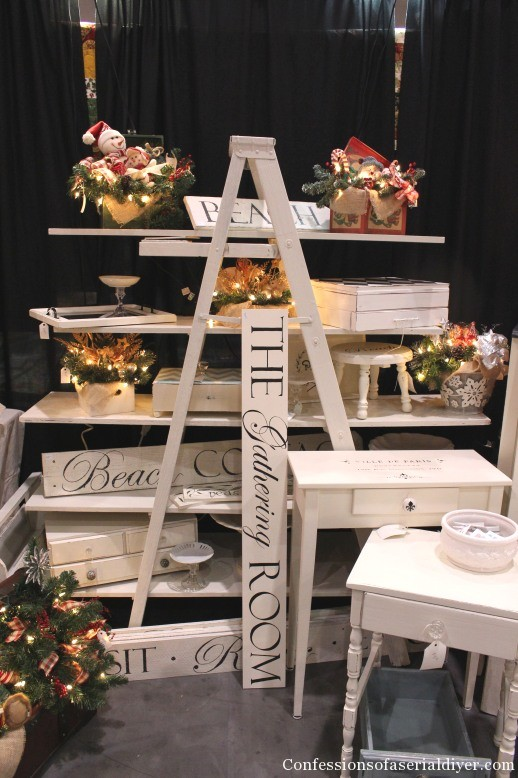 Craft Booth Ladder Display