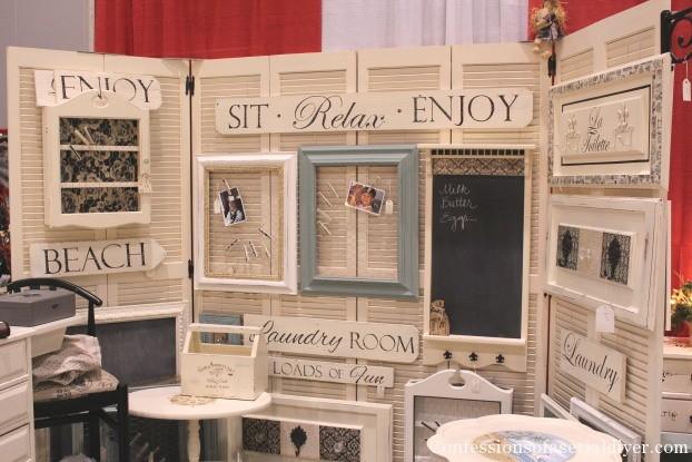 Crft Booth Display Board from old Bi-Fold Doors