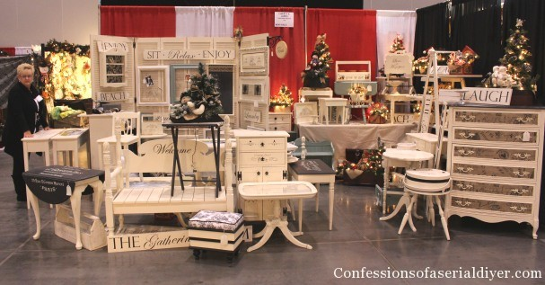 My christmas market booth confessions of a serial do it for How to set up a booth at a craft show