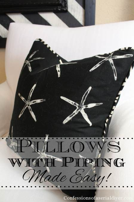Pillows with Piping Made Easy! It's easier than you think to add piping to your pillows. This tutorial shows you how!