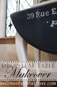 Drop Leaf Table Makeover