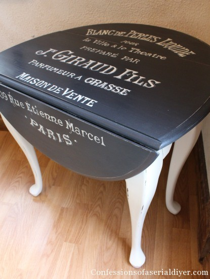 Table with graphics