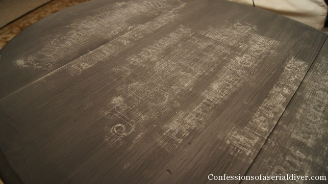 Transferring graphics with chalk
