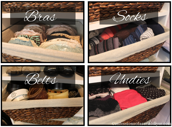 Bins for the closet