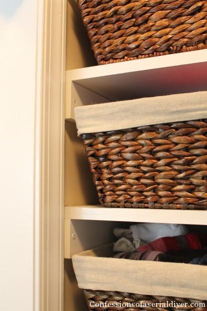 Baskets for closet storage
