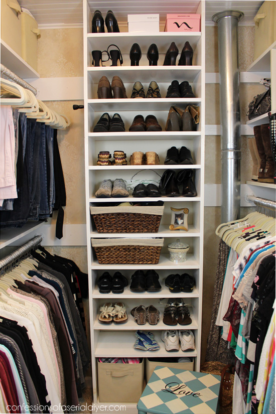 small deep closet ideas - How a Girl Built her Closet